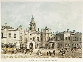 A view of the Horse Guards from Whitehall ; engraved by J.C Sadler