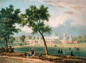 The Peter the Great Palace in Moscow, printed Edouard Jean-Marie Hostein (1804-89), published by Lem