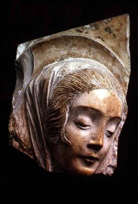 Head of a Madonna, fragment