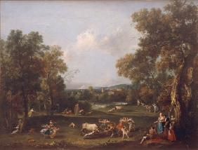 F.Zuccarelli / Landscape and / c.1740