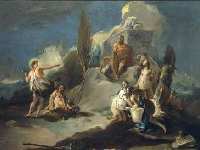 G.B.Tiepolo / Apollo & Marsyas / Paint.