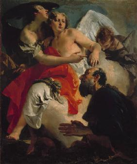 The three angels with Abraham / Tiepolo