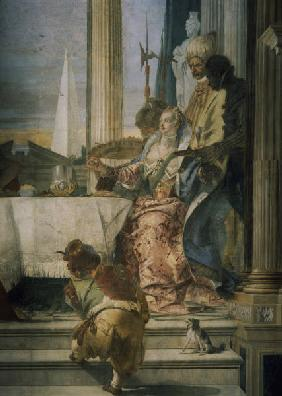 Tiepolo, Giovanni Battista 1696-1770. ''The banquet of Cleopatra'', 1757. Fresco (detail). Venice, P