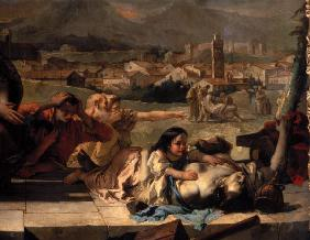 G.B.Tiepolo. Plague victim