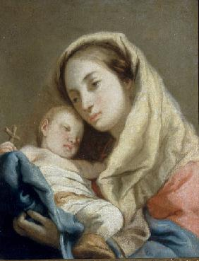 G.D.Tiepolo / Mary & Child / Paint./ C18