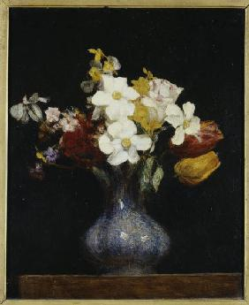 H.Fantin-Latour / Daffodils and tulips