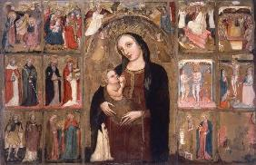 Mary w.Child & Saints / Ital.Ptg./ C14th