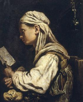 Girl Reading / Ital.Paint./ C17th