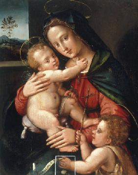 Mary w.Child & Boy John / Paint./ C16th
