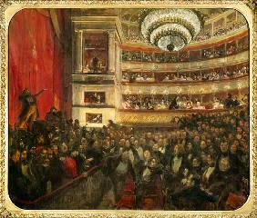 Performance of 'Hernani' by Victor Hugo (1802-85) in 1830