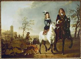 Mounted couple