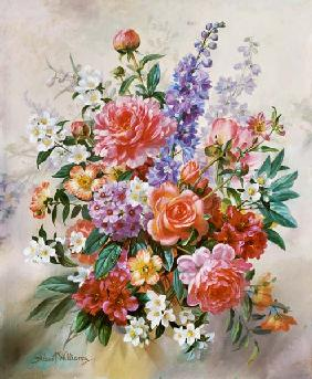 A High Summer Bouquet (oil on canvas)d