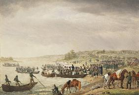 Italian Corp of Eugene Beauharnais Crossing the Niemen on 30 June 1812