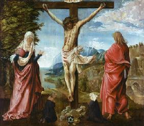 Christ at the cross with Maria and Johannes