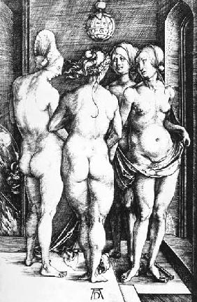 A.Dürer / Four Witches /Cop.Engrav./1497