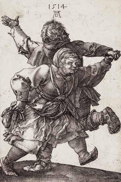 D�rer / Dancing Peasant Couple / 1514
