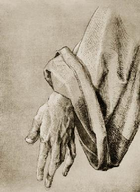 A.Dürer, Hand of Apostle / Draw./ c.1508