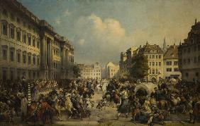 The occupation of Berlin by Russian troops in October 1760