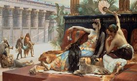 Cleopatra w.Poison a.Slaves , Cabanel