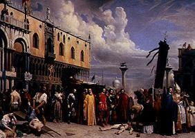 The burial Tizians during the plague in Venice 157