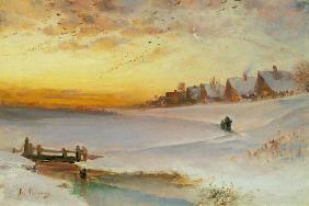 Alexej Savrasov - Twilight in winter