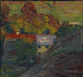 Landscape with red roof, Wasserburg