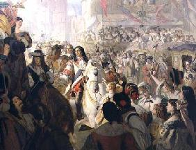 The Return of Charles II (1630-85) to Whitehall in 1660