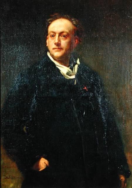 Alfred Dehodencq - Theodore de Banville (1823-91)