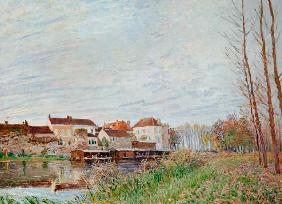 Sisley / Evening in Moret / 1888