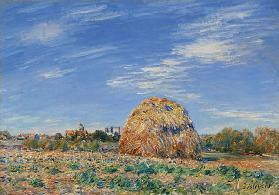 Haystack on the Banks of the Loing, 1891 (oil on canvas)