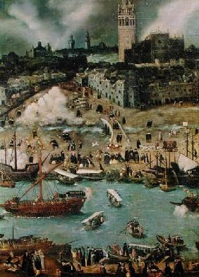 The Port of Seville in 1498  (detail)