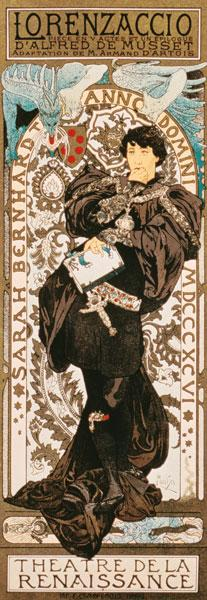Art Nouveau poster for Lorenziaccio of Alfred de m