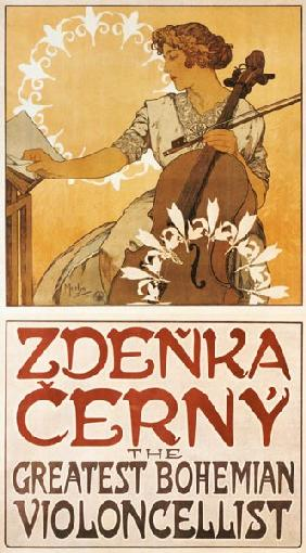 Poster Zdenka Cerny, The Greatest Bohemian Violonc