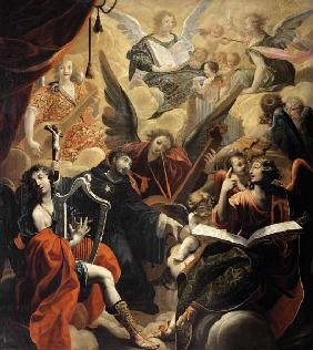 St. Nicholas of Tolentino with a Concert of Angels