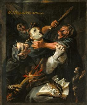 The Blessed Guillaume de Toulouse (755-812) Tormented by Demons