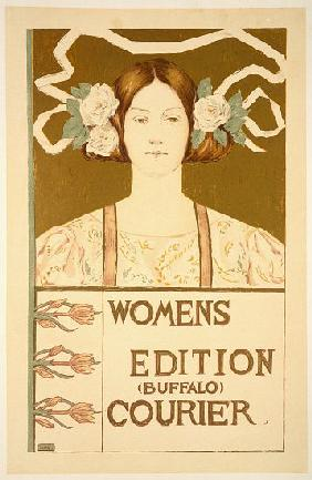 Reproduction of a poster advertising the 'Women's edition Buffalo Courier'