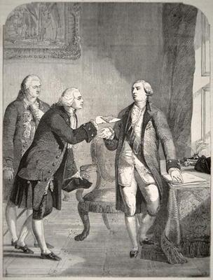 John Adams (1735-1826) as the First American Ambassador to the English Court, presenting his credent