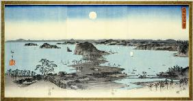 Night View Of Eight Excellent Sceneries Of Kanazawa In Musashi Province