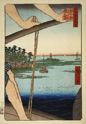 The Benten Shrine and the Ferry at Haneda (One Hundred Famous Views of Edo)