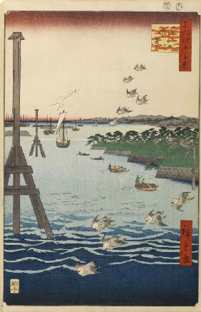 View of the Shiba Coast (One Hundred Famous Views of Edo)