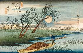 Full Moon at Seba, from the series ''69 Stations of the Kisokaido'', c.1837-42 (see also 3941)