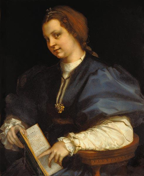 Lady with Book of Verse by Petrarch