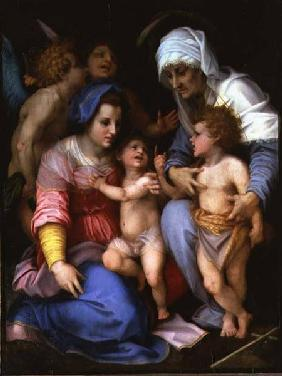 Holy Family with Angels