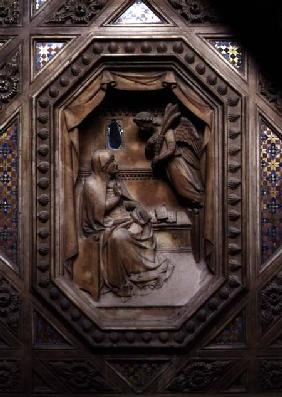 Tabernacle, detail of the Annunciation of the Virgin