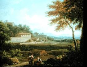 Landscape with Figures at Rest with a Town Beyond