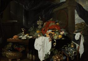 Pronk Still Life with Fruit, Oyters, and Lobsters