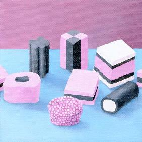 Pink Allsorts, 2003 (oil on canvas)