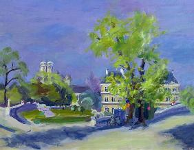 Jardins de Luxembourg (oil on canvas)