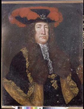Portrait emperor Karls VI. (1685-1740) out of the