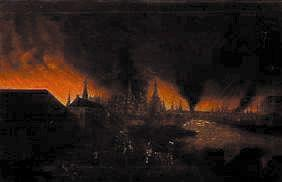 The burning Moscow